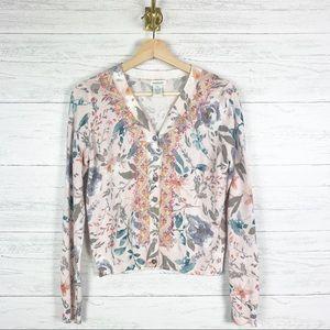 Sundance • Floral Embroidered Cardigan Sweater